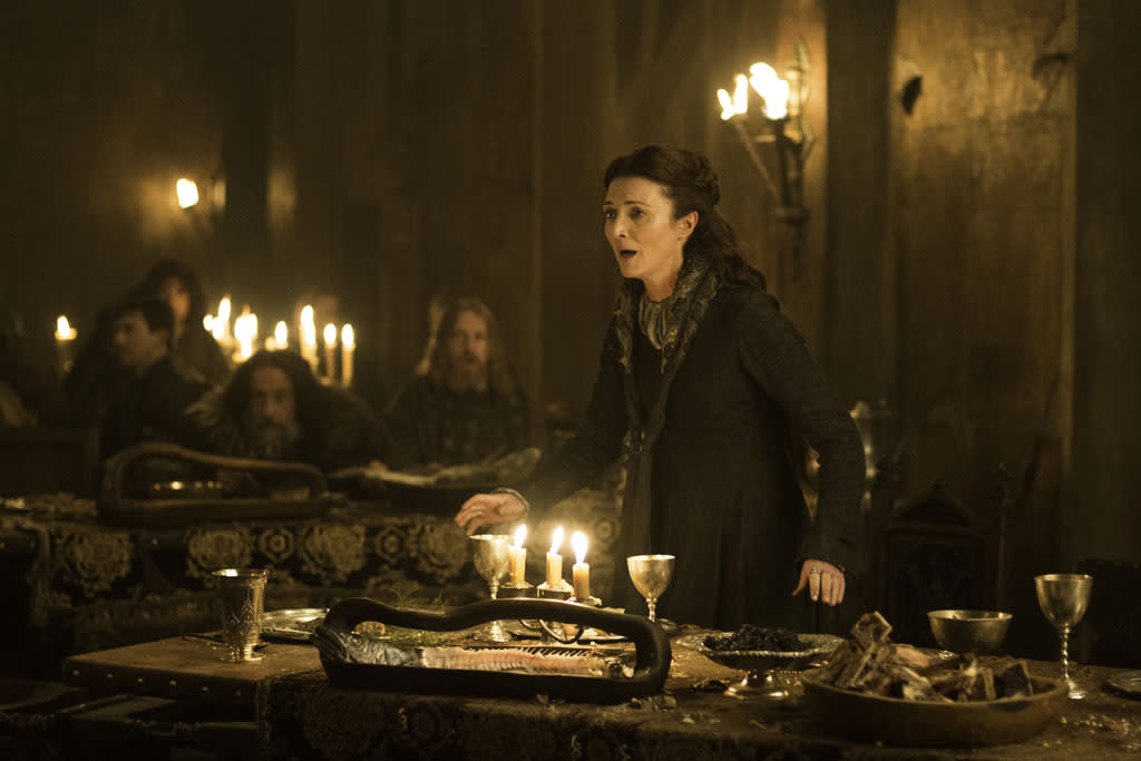 "Michelle Fairley in the ""Game of Thrones"" episode, ""The Rains of Castamere."""