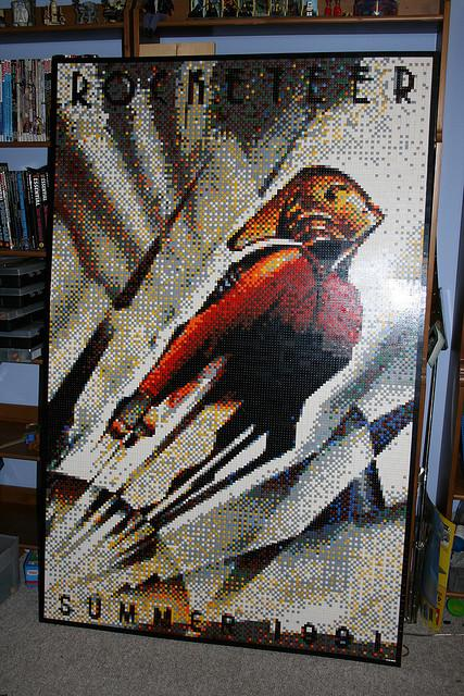 Rocketeer Lego Mosaic by Dave Ware