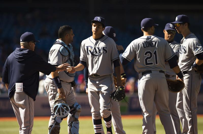 Rays lose to Blue Jays 7-2, drop back in wild card