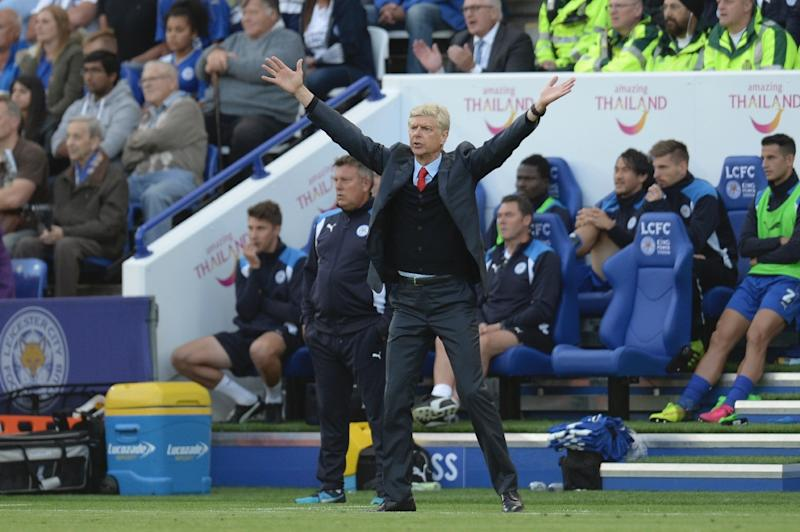Arsenal's manager Arsene Wenger reacts on the touchline on August 20, 2016