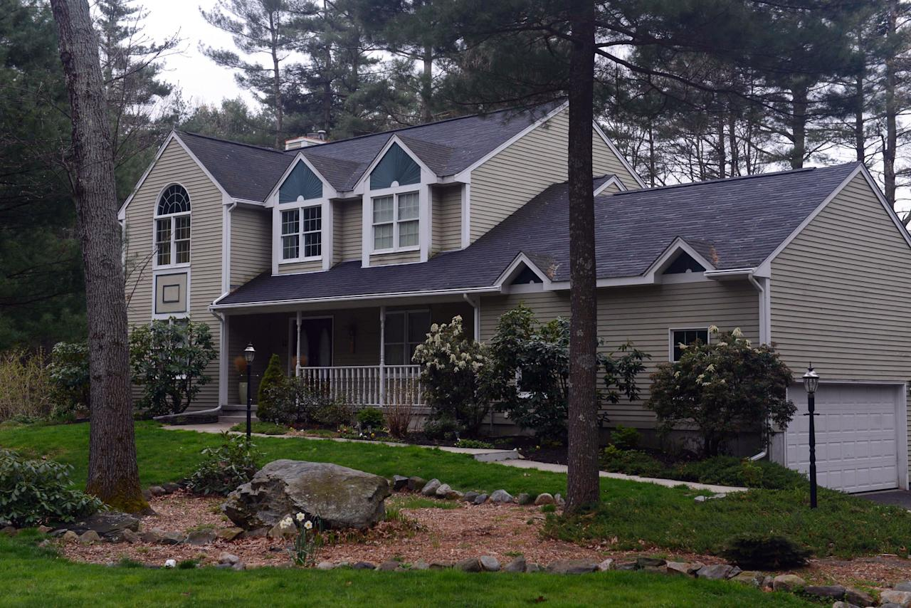 NORTH KINGSTOWN - APRIL 23: The home of Warren and Judith Russell, where their daughter Katherine Tsarnaeva, the widow of Tamerlan Tsarnaev, is staying, is seen on Coriander Lane April 23, 2013 in North Kingstown, Rhode Island. Tamerlan Tsarnaev, 26, along with his brother Dzhokhar Tsarnaev, 19, are the suspects in the Boston Marathon bombing. Tamerlan Tsarnaev was subsequently shot and killed after a car chase and shootout with police and Dzhokhar Tsarnaev was apprehended on a boat parked on a residential property in Watertown, Massachusetts. The bombing, on April 15 at the finish line of the marathon, killed three people and wounded at least 170.  (Photo by Darren McCollester/Getty Images)