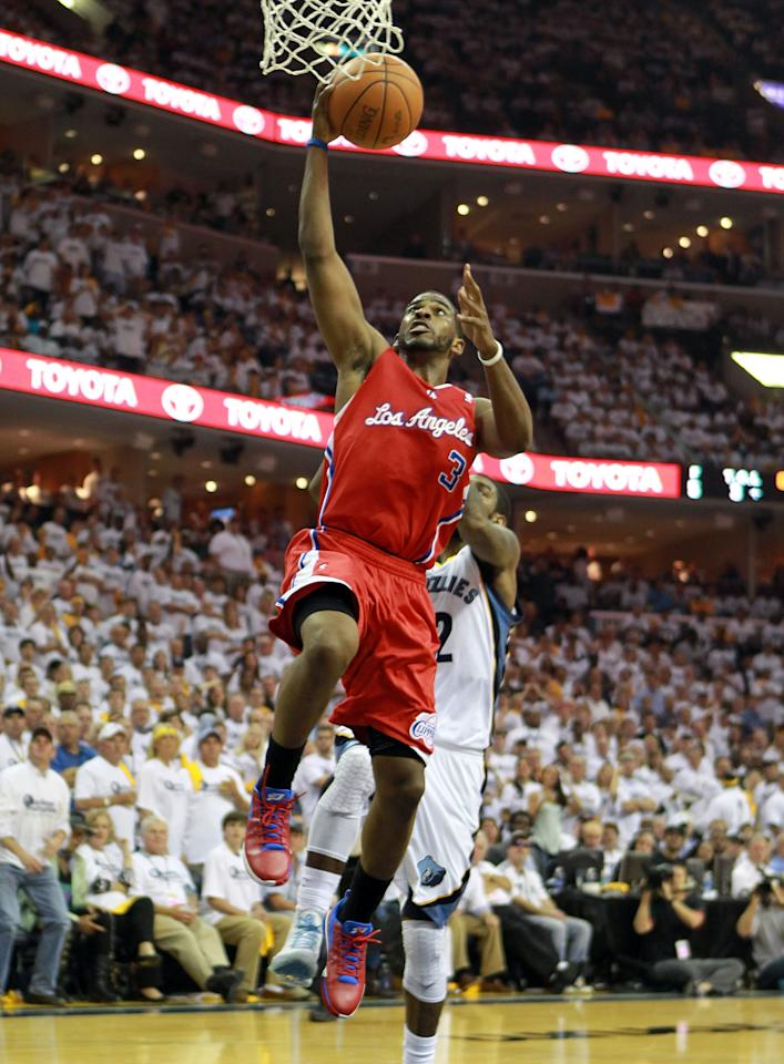 MEMPHIS, TN - MAY 09:  Chris Paul #3 of the Los Angeles Clippers shoots the ball against the Memphis Grizzlies in Game Five of the Western Conference Quarterfinals in the 2012 NBA Playoffs at FedExForum on May 9, 2012 in Memphis, Tennessee. The Grizzlies won 92-80. NOTE TO USER: User expressly acknowledges and agrees that, by downloading and or using this photograph, User is consenting to the terms and conditions of the Getty Images License Agreement.  (Photo by Andy Lyons/Getty Images)
