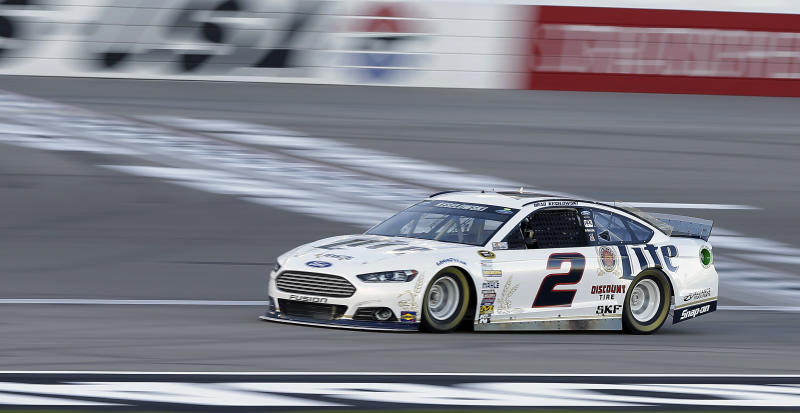 Keselowski holds on for Nationwide win in Vegas