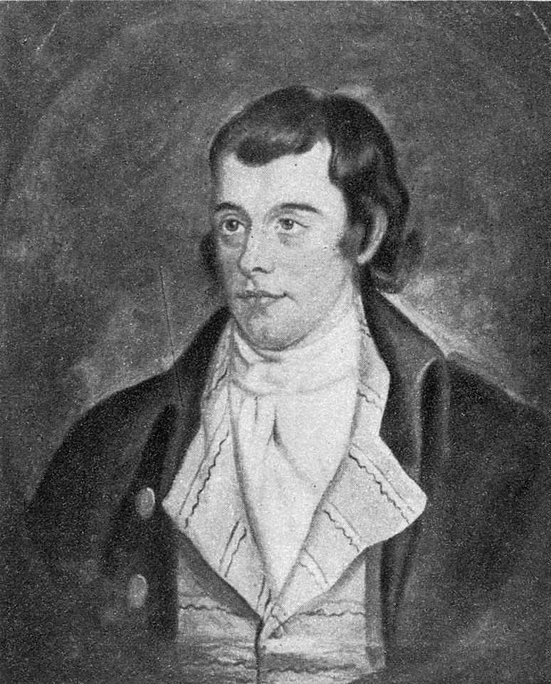circa 1790: Scottish poet Robert Burns (1759 - 1796). Original Artwork: Painted by William Anderson. (Photo by Hulton Archive/Getty Images)