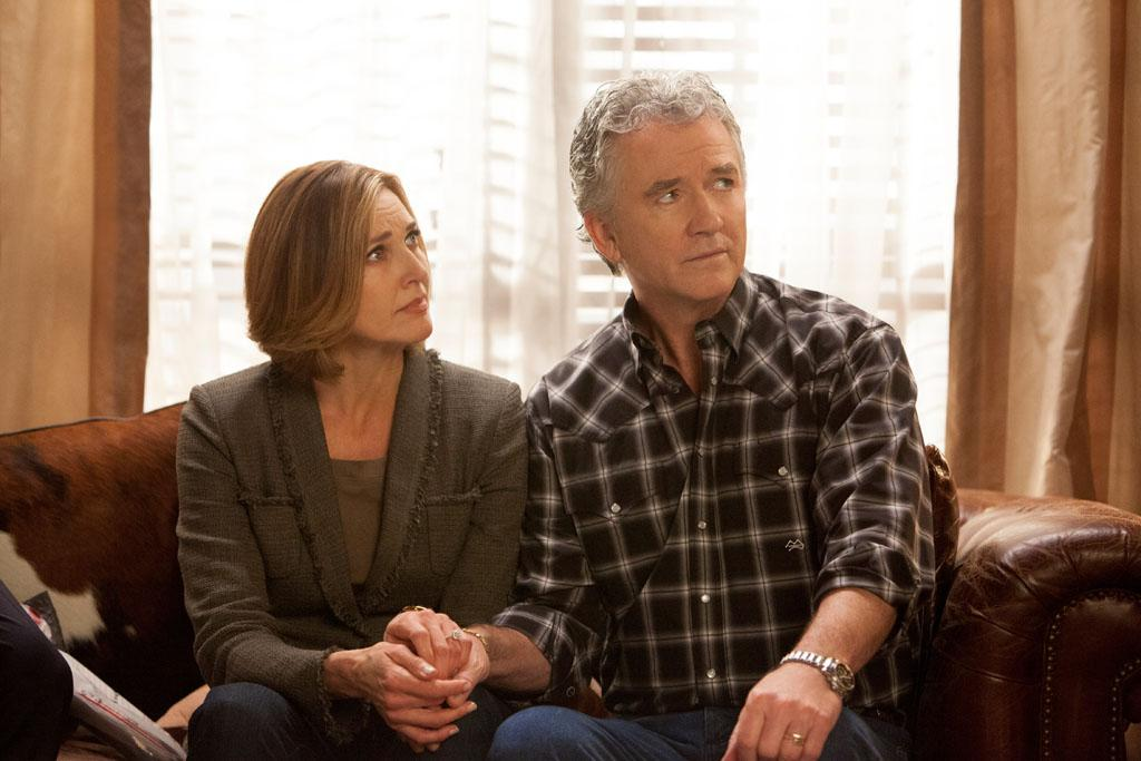 "Brenda Strong and Patrick Duffy in the ""Dallas"" Season 2 episode, ""Trial and Error."""