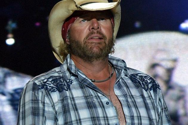 Toby Keith, whose son Stelen Covel is coming into his own as a football player — Getty
