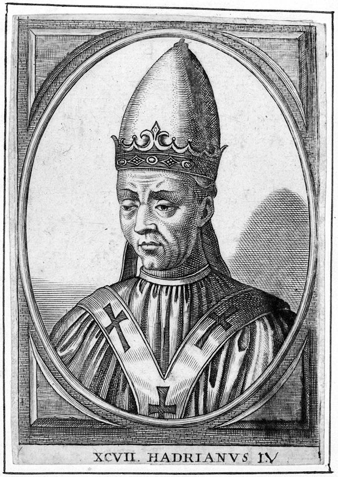 Circa 1125, Pope Adrian IV, or Nicholas Breakspear (1100-1159), the first and only Englishman to become Pope. (Photo by Hulton Archive/Getty Images)