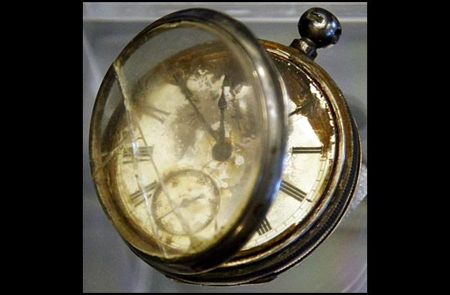 A pocket watch found in the belongings of a third class passenger named William Henry Allen