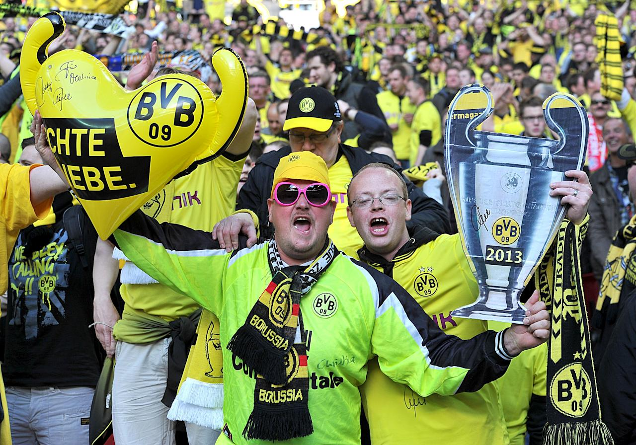 Borussia Dortmund fans in the stands