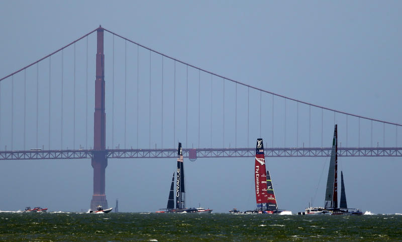 Danger levels high for America's Cup sailors