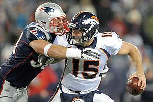 Tim Tebow's magical run with the Broncos last season ended with a playoff loss to the Patriots