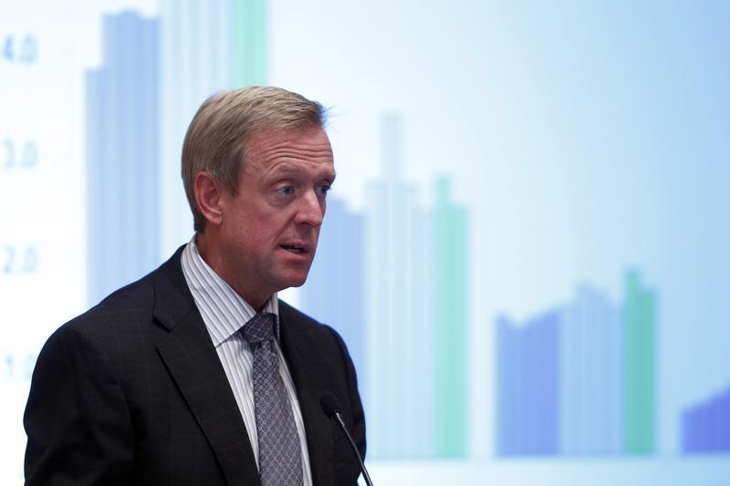 Craig Donohue, chief executive officer of CME Group, speaks during the Sandler O'Neill's Global Exchange and Brokerage Conference in New York