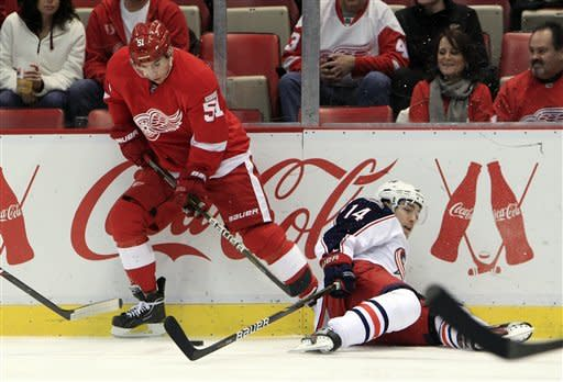 Filppula lifts Red Wings past Blue Jackets