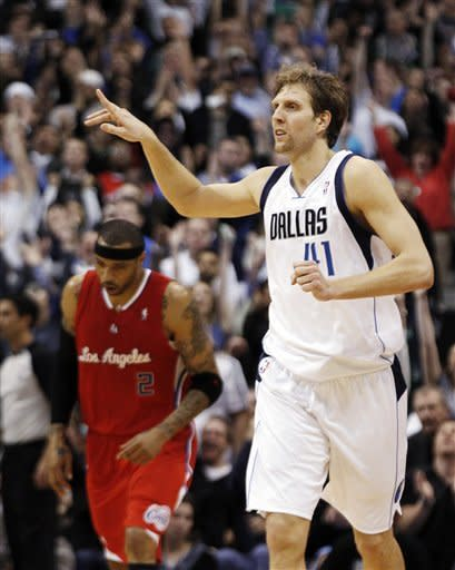 Nowitzki, Marion lift Mavs over Clippers 96-92