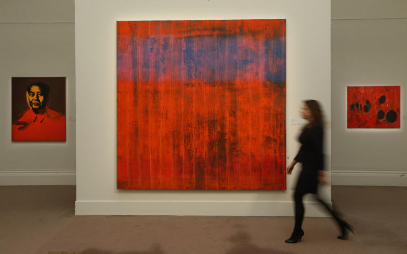 A touch of red helps global art market boom