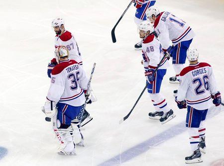 NHL: Stanley Cup Playoffs-Montreal Canadiens at New York Rangers