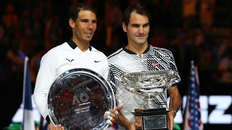 Roger Federer rolls back the years with Rafa rout