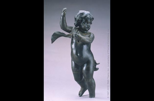 A cherub that once adorned the grand staircase of the RMS Titanic.