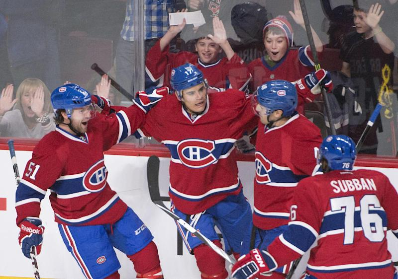Plekanec scores 2 goals, Canadiens top Jackets