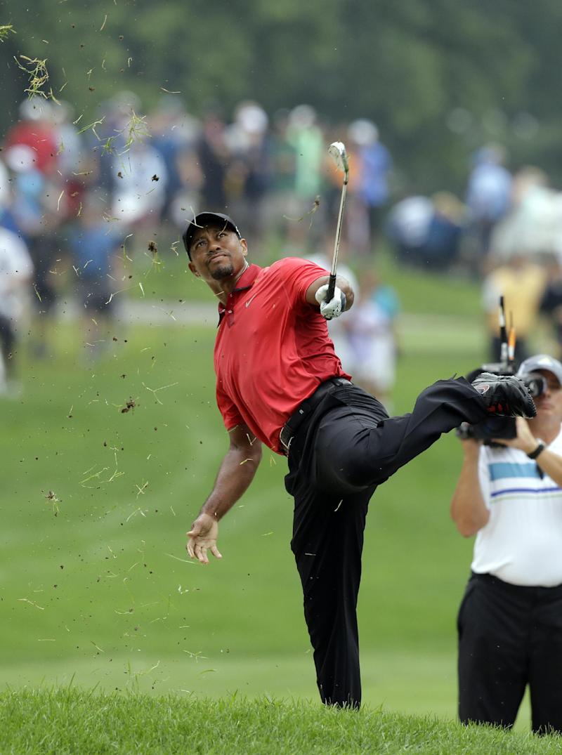 Woods arrives at Valhalla to try to play