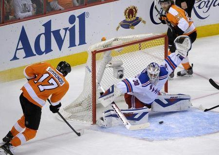 NHL: Stanley Cup Playoffs-New York Rangers at Philadelphia Flyers