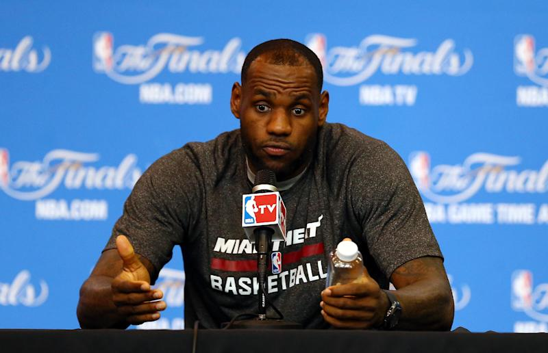 LeBron with a simple message: 'Why not us?'