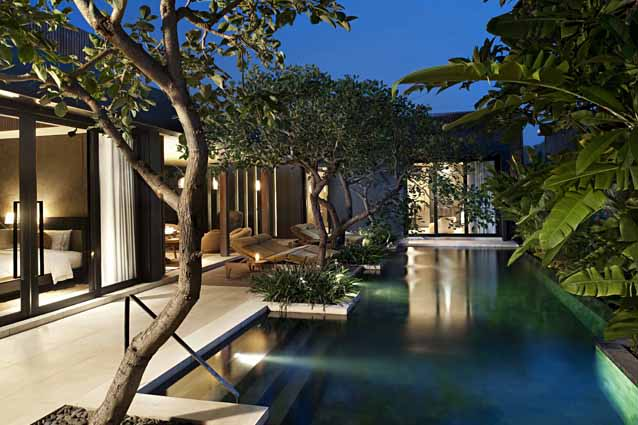 W Retreat & Spa Bali-Seminyak, Indonesia - The resort features 237 guestrooms and villas, which each have a private entrance and pool. A three-story beach bar and an enormous spa make this the perfect pre- and post-party spot.