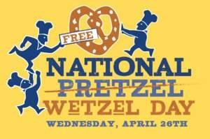 wetzels pretzels announces national wetzel celebration