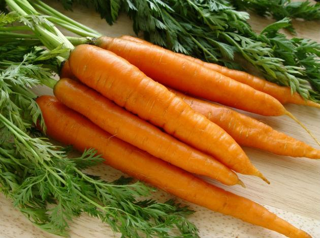 <b>Carrots</b> <br>Probably one of the only gifts of nature that is rich in more than one form of Vitamin, carrots complete your body's requirement of vitamins B, C, D, E and K, while the carotene gets converted to Vitamin A later. It is no wonder that a plate of heartily made 'gajar ka halwa' is to die for.