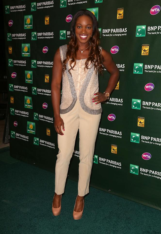 INDIAN WELLS, CA - MARCH 07:  Sloane Stephens of USA arrives for a player's party at the IW Club on March 7, 2013 in Indian Wells, California.  (Photo by Victor Decolongon/Getty Images)