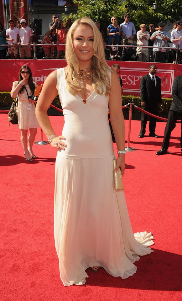 LOS ANGELES, CA - JULY 11:  US Olympic skier Lindsey Vonn arrives at the 2012 ESPY Awards at Nokia Theatre L.A. Live on July 11, 2012 in Los Angeles, California.  (Photo by Steve Granitz/WireImage)