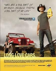 Pennzoil(R), MediaCom and Tim McGraw Strike a Chord With Music Marketing Program