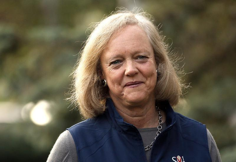 Meg Whitman, CEO of Hewlett-Packard, arrives for the first session of annual Allen and Co. conference at the Sun Valley