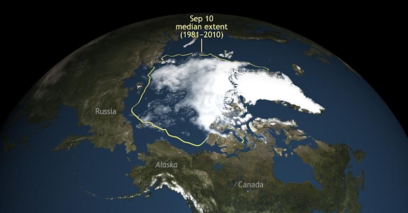 Arctic sea ice shrinks to second-lowest level ever