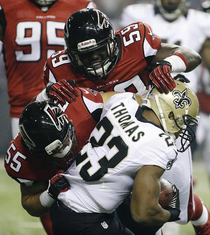 Weatherspoon's injury forces Falcons to adjust