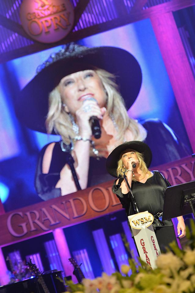 NASHVILLE, TN - MAY 02:  (EXCLUSIVE COVERAGE) Country musician Tanya Tucker performs at the funeral service for George Jones at The Grand Ole Opry on May 2, 2013 in Nashville, Tennessee. Jones passed away on April 26, 2013 at the age of 81.  (Photo by Rick Diamond/Getty Images for GJ Memorial)