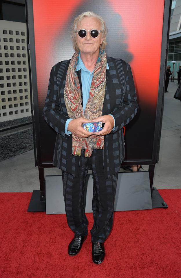 "HOLLYWOOD, CA - JUNE 11: Actor Rutger Hauer attends the premiere of HBO's ""True Blood"" Season 6 at ArcLight Cinemas Cinerama Dome on June 11, 2013 in Hollywood, California. (Photo by Frazer Harrison/Getty Images)"