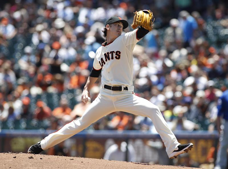 Giants top Cubs 5-0, 6 pitchers team on 2-hitter