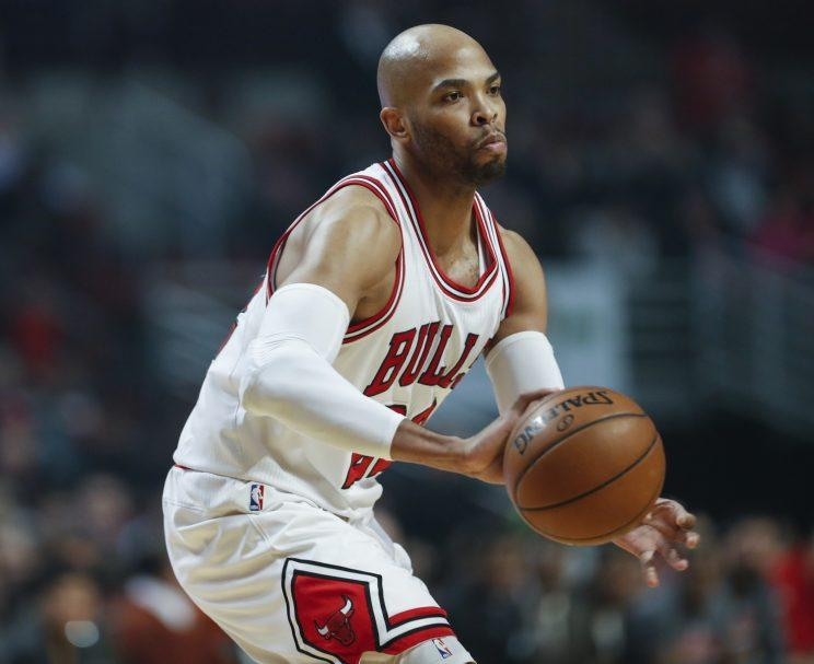 Taj Gibson is perhaps the Bulls' most valuable trade asset. (AP)