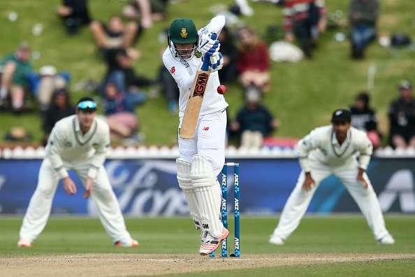 WELLINGTON, NEW ZEALAND - MARCH 18: Stephen Cook of South Africa bats during day three of the test match between New Zealand and South Africa at Basin Reserve on March 18, 2017 in Wellington, New Zealand. (Photo by Hagen Hopkins/Getty Images)