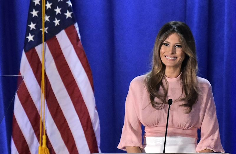 Melania Trump says youth should be taught kindness and compassion
