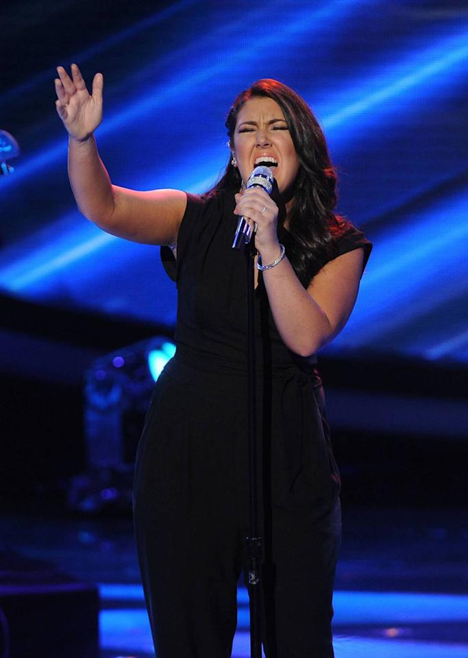 """Kree Harrison performs """"A Whiter Shade of Pale"""" on the Wednesday, April 24 episode of """"American Idol."""""""