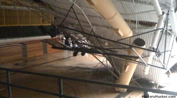 Jasper gym roof collapses