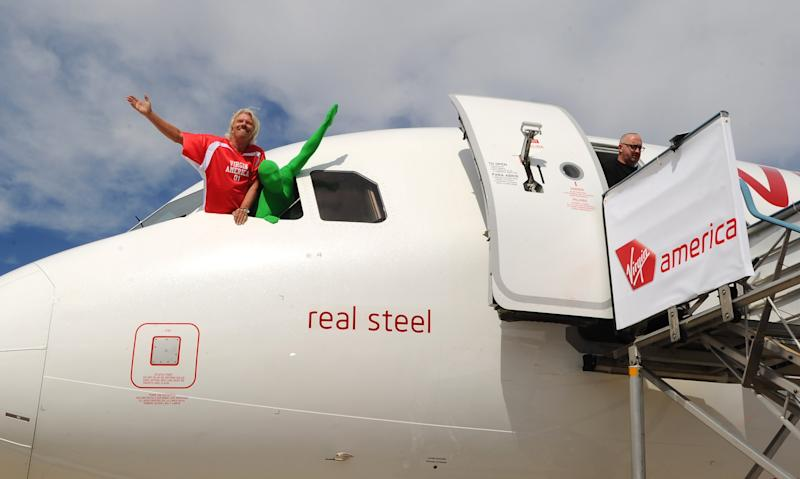 Launch Of Virgin America's First Flight From Los Angeles To Philadelphia - Inaugural Flight