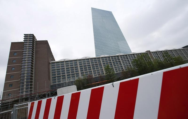 The new headquarters of the European Central Bank is seen during a guided media tour in Frankfurt