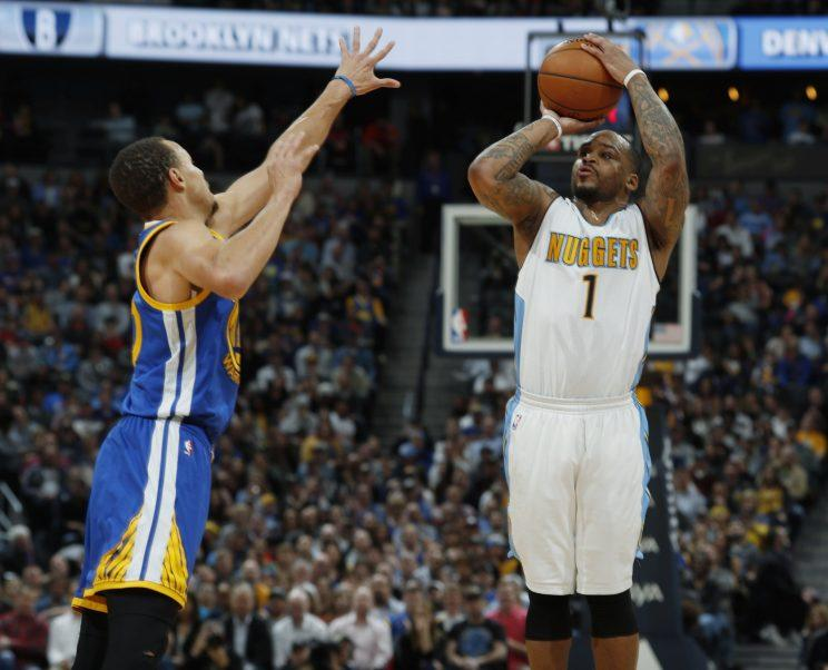 Short-handed Warriors crushed by Nuggets, 132-110