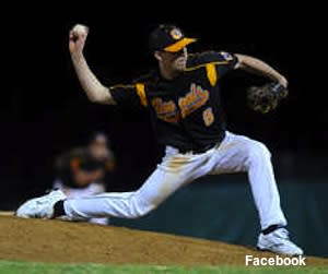 Fuquay-Varina pitcher Craig Mitchell, who recovered from brain cancer to return to the mound