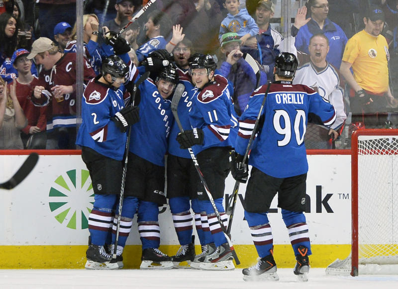 Barrie leads Avalanche over the Rangers, 3-2