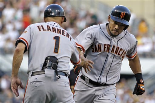 Cabrera powers Giants past Pirates 6-5