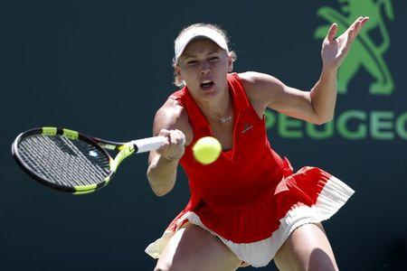 Wozniacki beats second seed Pliskova to reach Miami final